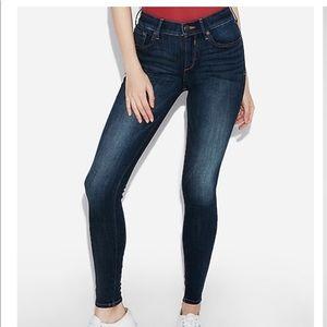 WHITE jean leggings
